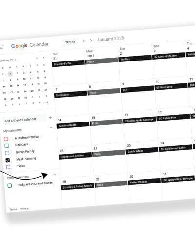 The Ultimate Meal Planning Hack using Google Calendar