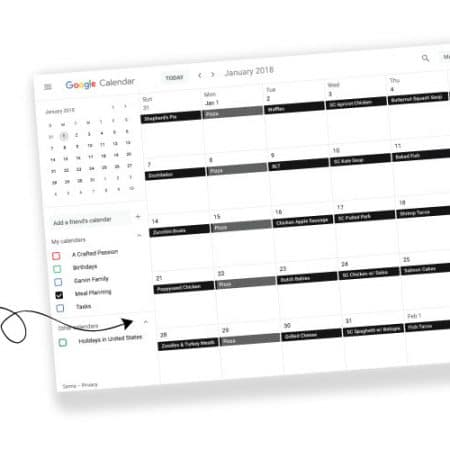 Meal Planning Using Google Calendar  The Ultimate Dinner Hack