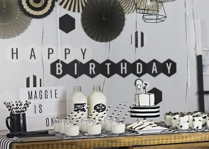 Black And White Birthday Party A Fun First Birthday Bash