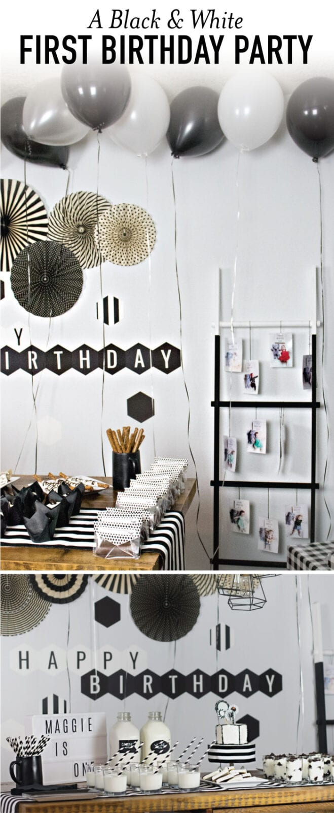 Black and White Birthday Party | A Fun First Birthday Bash!