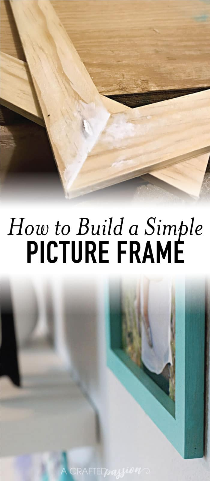Can't find the perfect sized picture frame to decorate your home? Learn how to build a picture frame with this easy tutorial! #pictureframe #diyproject #build