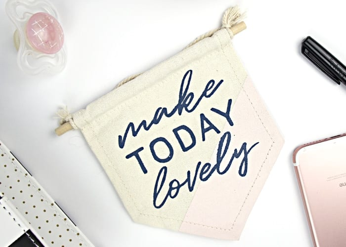 Make today lovely sign