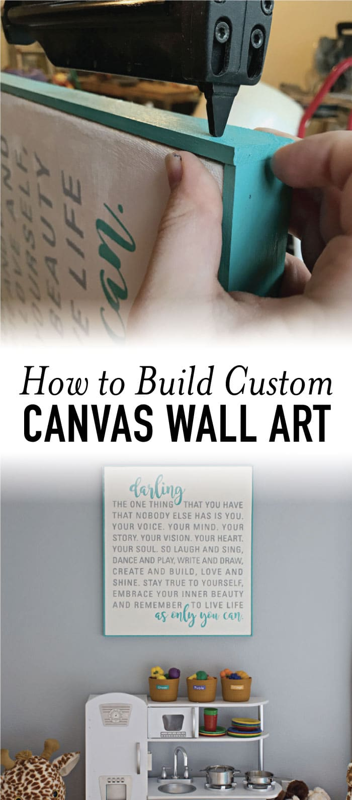 Want to decorate with your favorite quote? Learn how to create canvas wall art with these simple tips and tricks for less than $20! #wallart #diyart