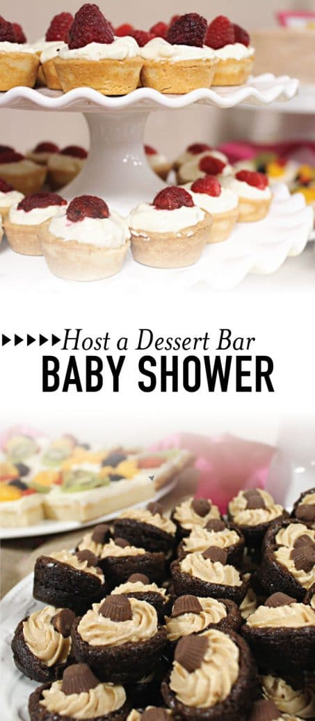 Dessert bar baby shower image.