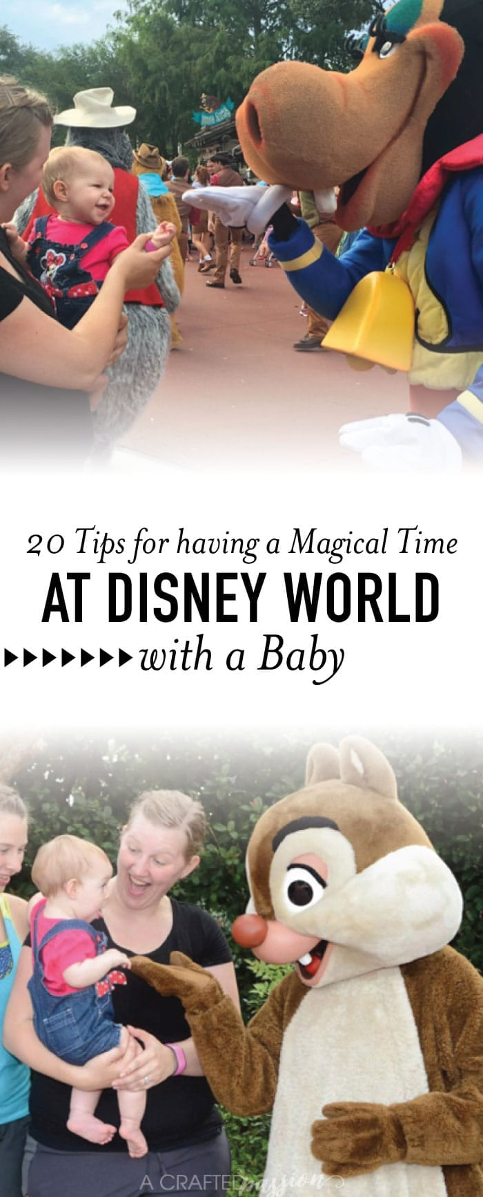 Here's all the best tips and tricks for having a magical experience at Disney World with a baby. #disneyworld #traveltips #vacation