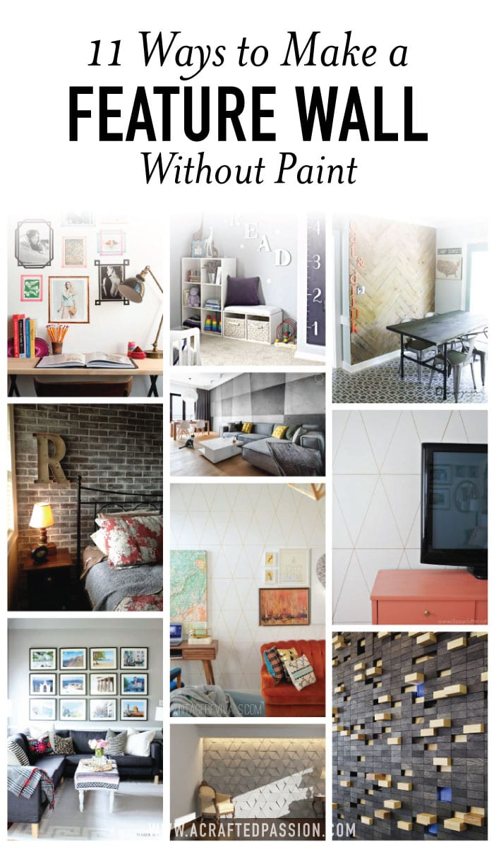 11 Inspiring Ways to Make Feature Walls without Paint