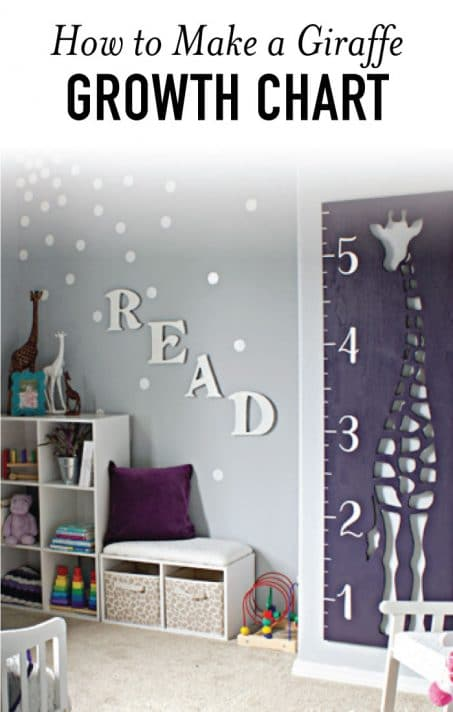 Giraffe shaped growth chart image.