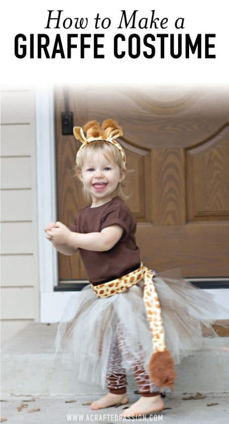 Little girl in DIY Halloween costume image.