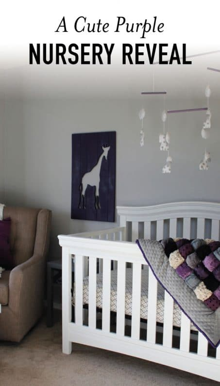 Purple nursery image.