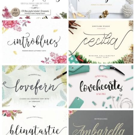 Wedding fonts image.