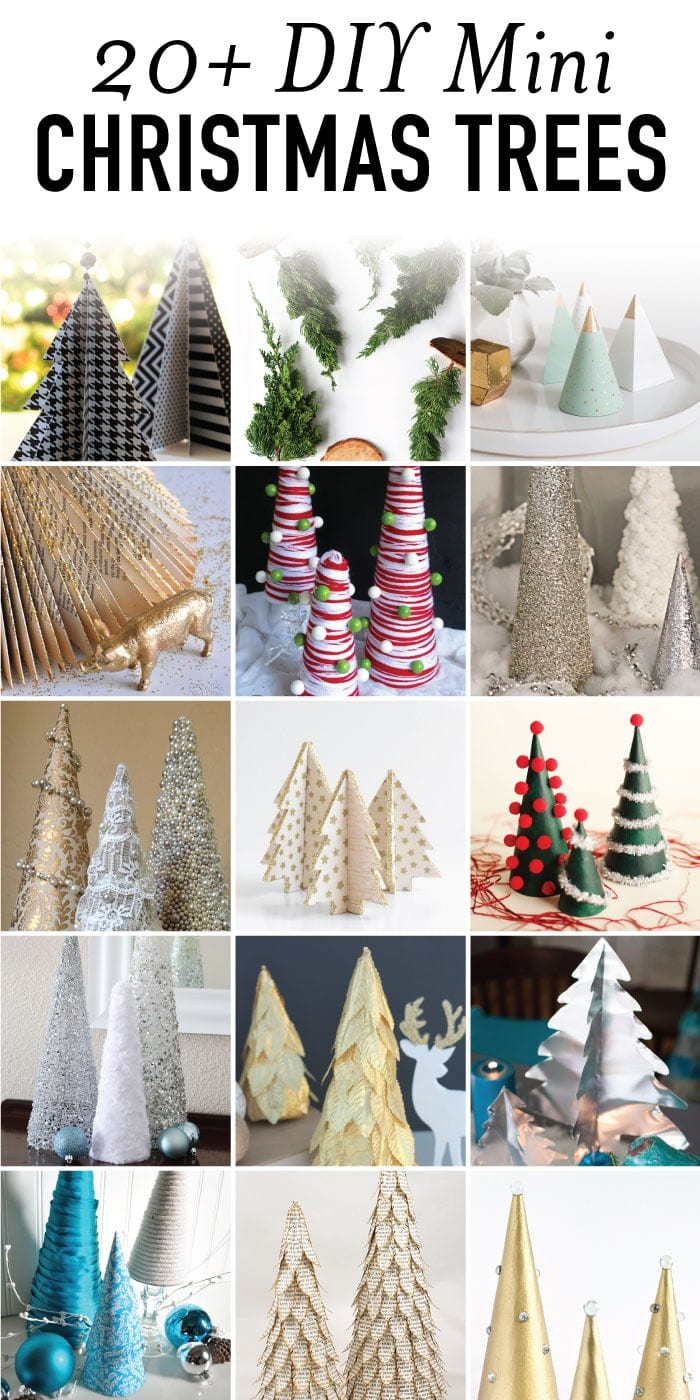 20 diy mini christmas tree ideas. Black Bedroom Furniture Sets. Home Design Ideas
