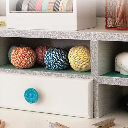 Examples of using washi tape on furniture image.
