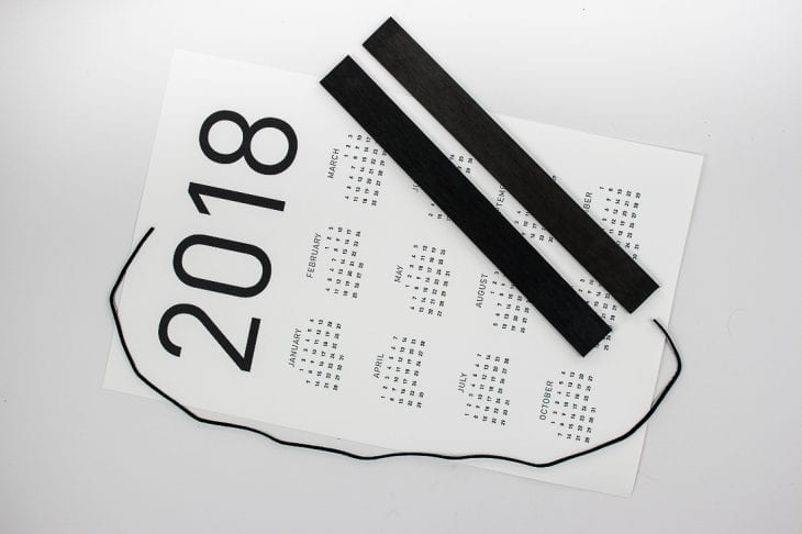 2018 wall calendar supplies image