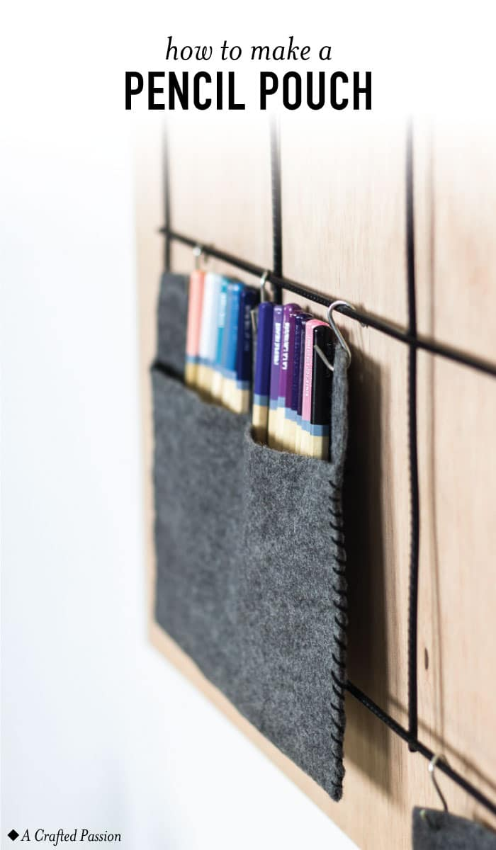 Make art supply organization for your little artist using felt and embroidery floss. This is perfect for kids and organizing small spaces in your home.#diy #kid