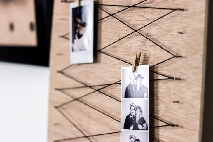 Image of clothespin memo board