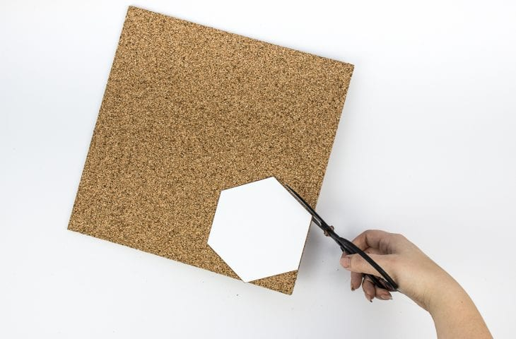 Image of cutting cork coasters