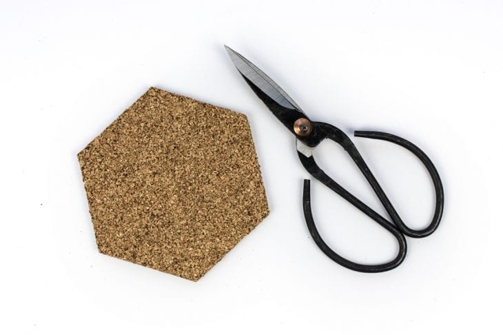 Image of cutting cork coaster