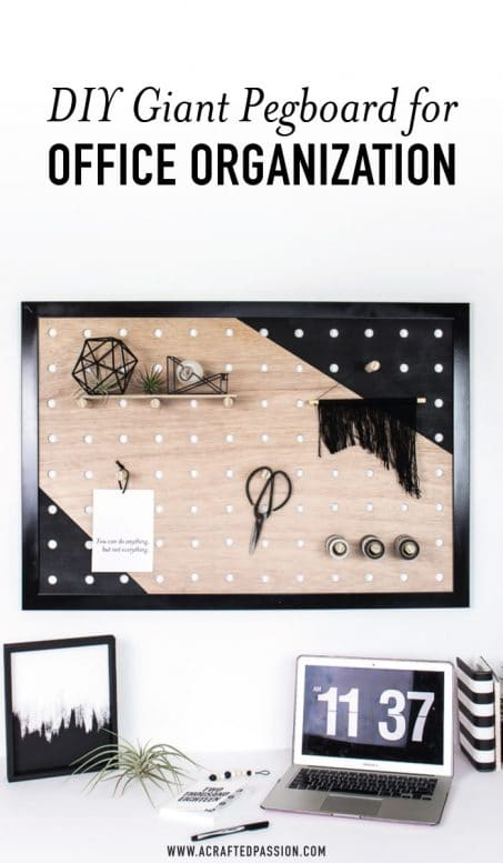 DIY Giant Pegboard for Office Organization image