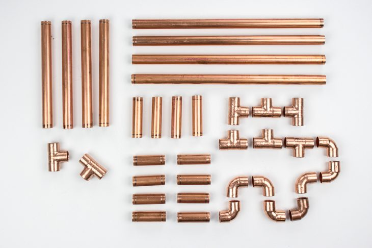 How To Make Diy Pipe Shelves Using Copper Pipes