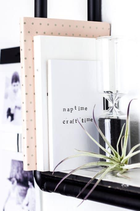 Image diy pipe shelf with decor