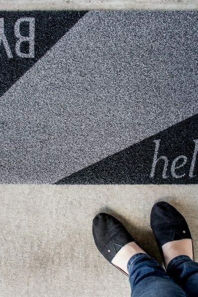 DIY Modern Door Mat
