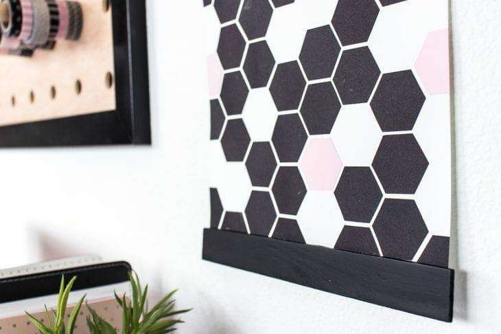 Image of bottom of geometric art