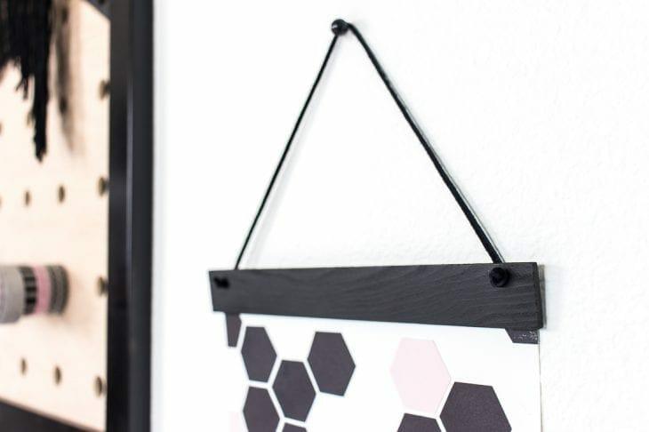 Image of top of geometric art paint stick