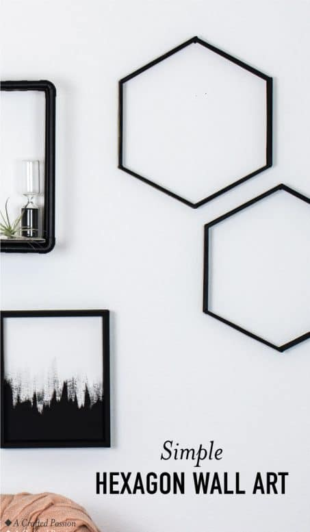 Make this easy hexagon art to display on your wall using coffee stirrers. This DIY honeycomb design inspiration is too cute and simple! #diy #modernart #homedecor
