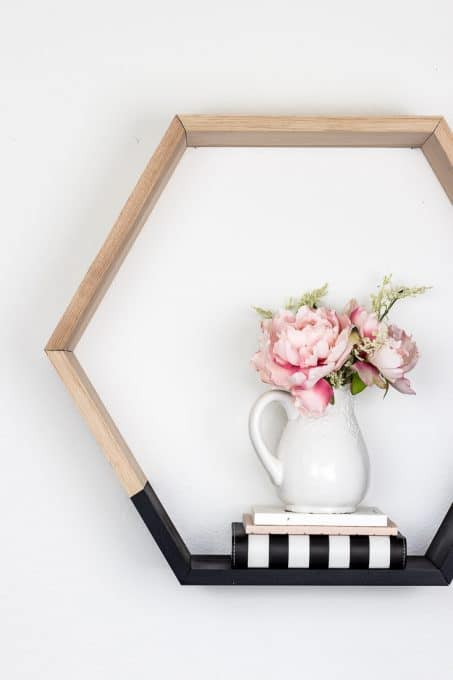 Image of simple hexagon shelf