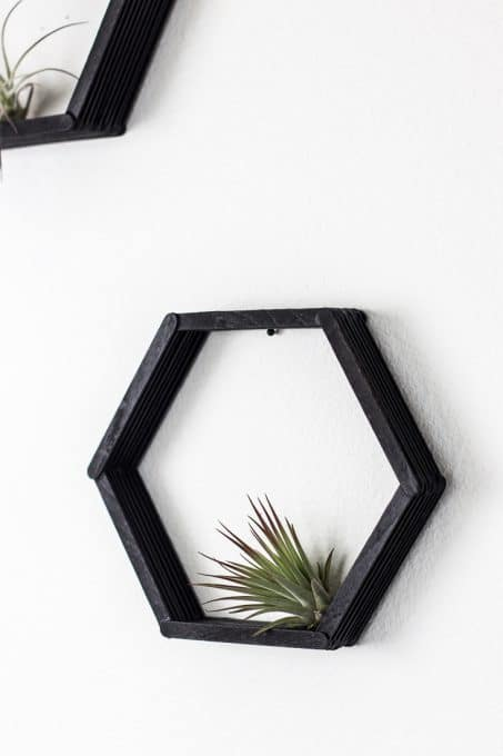 Image of finished hexagon shelves