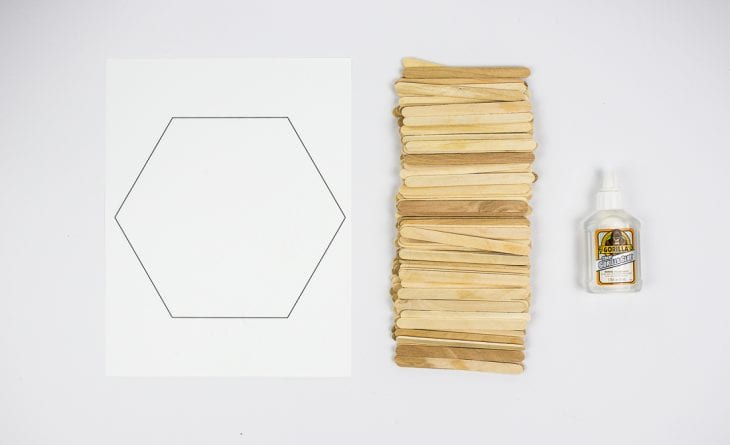 Image of hexagon shelf supplies