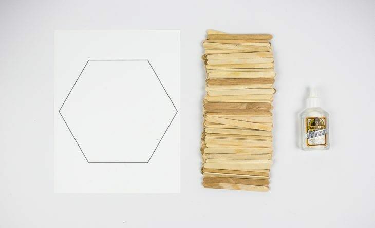 Image of hexagon shelf supplies