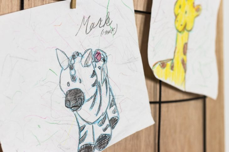 Image of kids art display