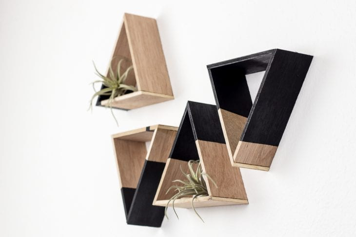 Image of mini triangle shelves