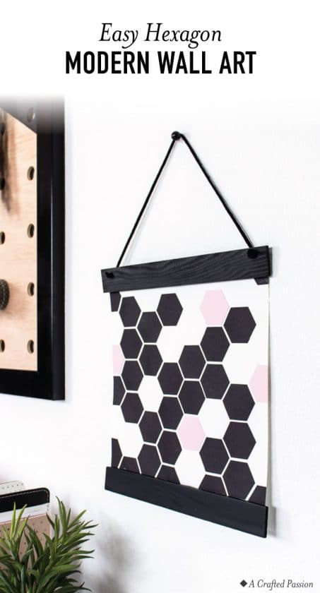 Geometric art pin