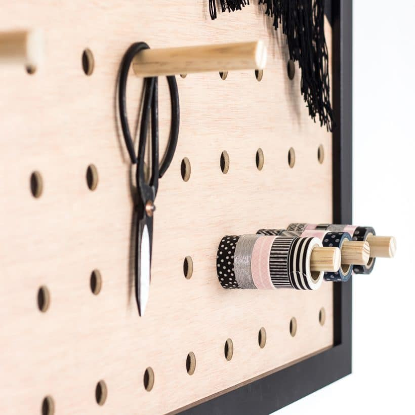 See How To Make A DIY Giant Pegboard Perfect To Get Your Office Organized.  This
