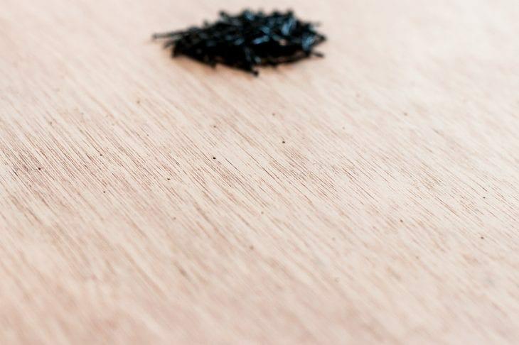 Image of string art nail holes