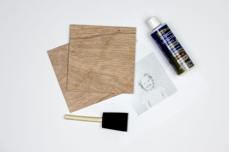 Image of transfer photo to wood supplies