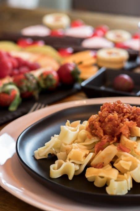 Valentine's dinner pasta image