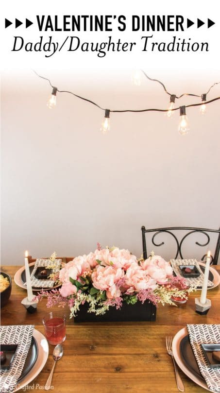 This Valentine's daddy and daughter dinner tradition is so cute to celebrate at home with the family! This easy dinner with food and table decorations from Cost Plus World Market is sure to impress the little girl's in your life. #sponsored #worldmarkettribe
