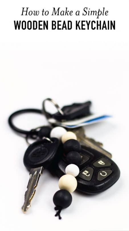 Make an easy DIY wooden bead keychain to make losing your keys more difficult. This handmade keychain looks way better than the old lanyard I've been using for the last 6 years! #diy #keychain