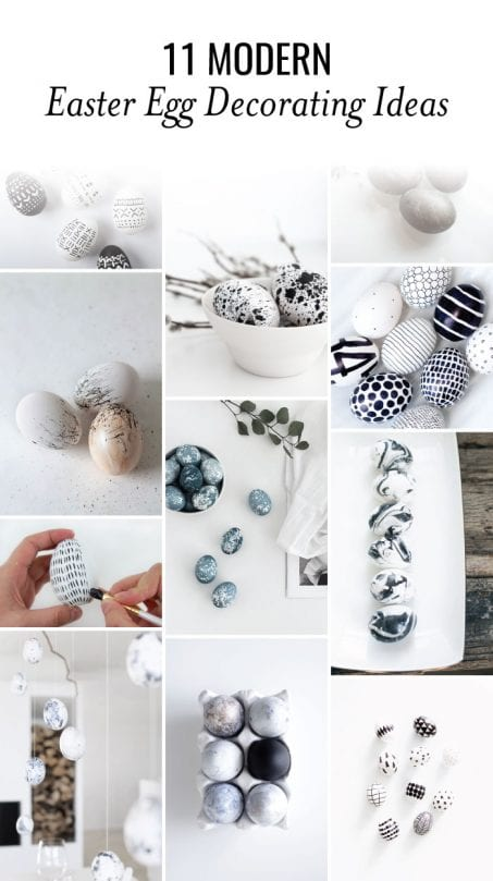 Modern Easter egg decorating ideas