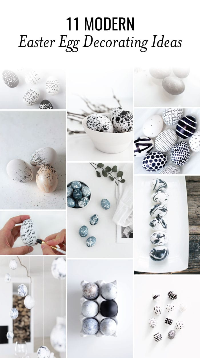 These 11 modern Easter egg decorating ideas are so easy and creative! These DIY ideas are perfect for adults or kids.#easter #eastereggs #modern