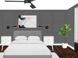 Monochrome Bedroom Design Plans