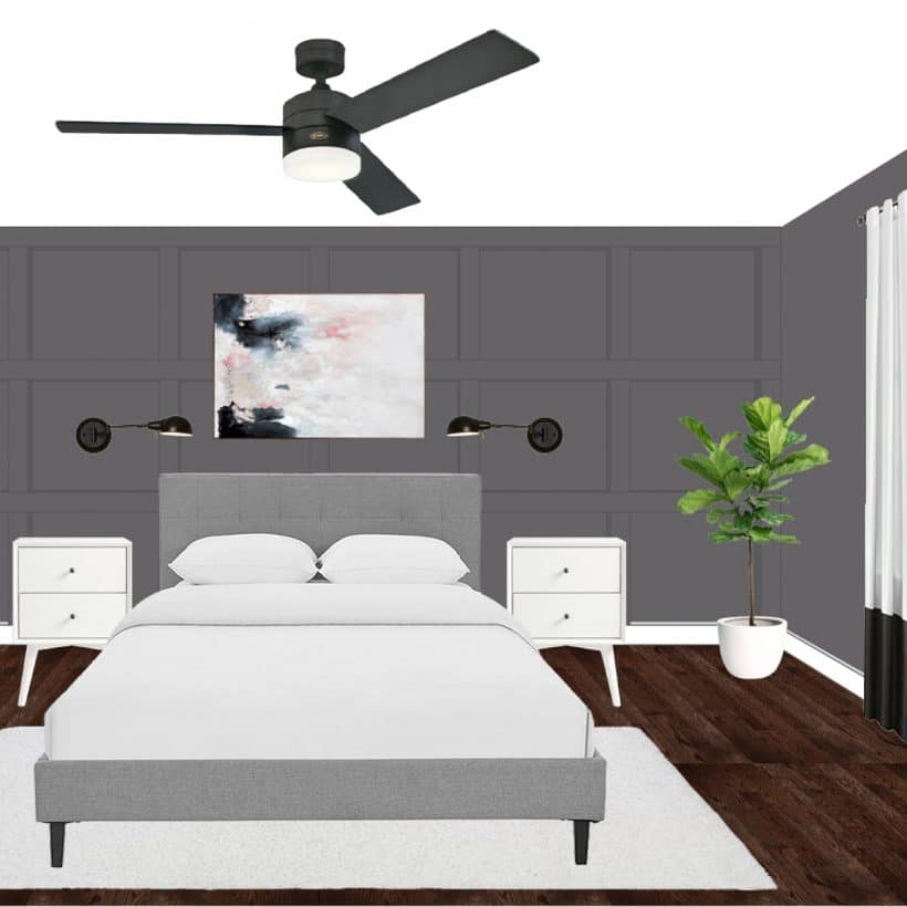 Monochrome Bedroom Design Plans