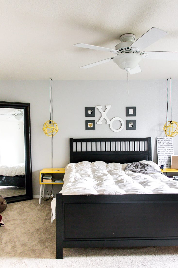 Check out the before of this boring, beige master bedroom makeover! Follow along tosee the full transformation!