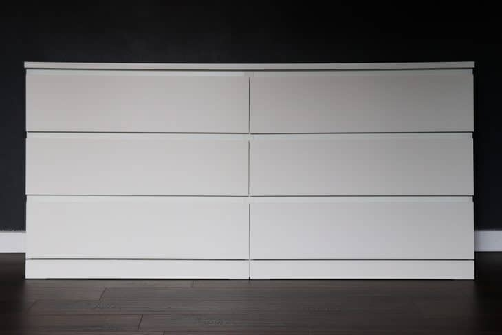 Simple IKEA malm dresser
