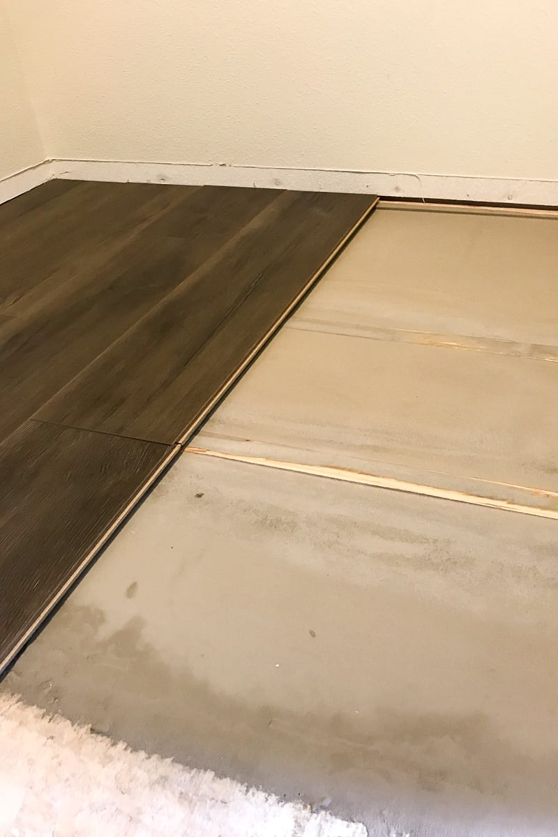 Laminate flooring on uneven subfloor