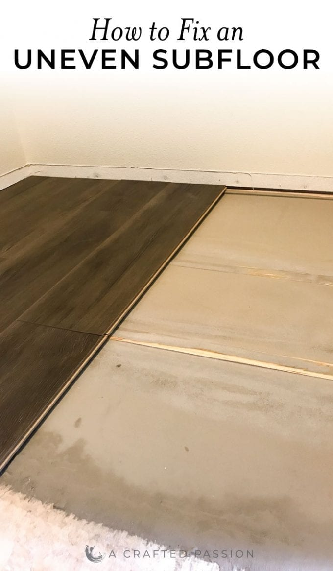 See how to fix an uneven subfloor before installing laminate flooring.