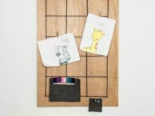 Creative Way to Display Kids Art